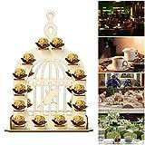 CSPone | Rocher Ferrero Herz Display Ständer Mittelstück Perfekt für Parties, Hochzeiten & Candy Bar, Hochzeitsfest Dekoration, Hölzerner Schokoladen-Ausstellungsstand - Glücklicher Vogel