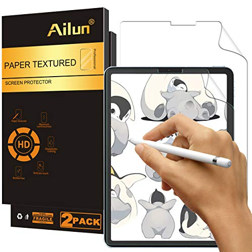 Ailun Paperfeel Screen Protector Compatible for New iPad Air 4th Generation[10.9 inch,2020 Release],iPad Pro 11 Inch[2020&2018 Release] 2Pack Draw and Sketch Like on Paperfeel Anti Glare