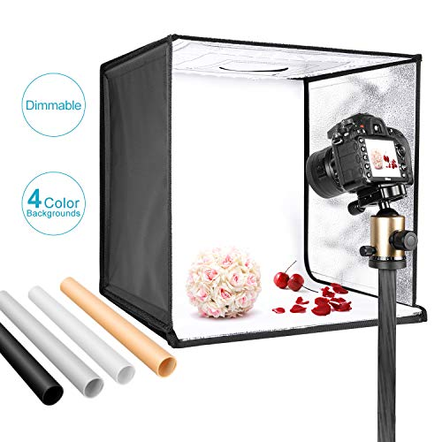 Neewer Photo Studio Light Box 20 inches/50cm Shooting Light Tent Adjustable Brightness Foldable...