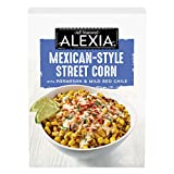 One 10 oz package of Alexia Mexican-Style Street Corn with Parmesan and Mild Red Chile Delicious twist on a traditional frozen corn side dish that's easy to prepare Corn topped with Parmesan, lime-cilantro sauce with a zing of chile flavor to spice u...