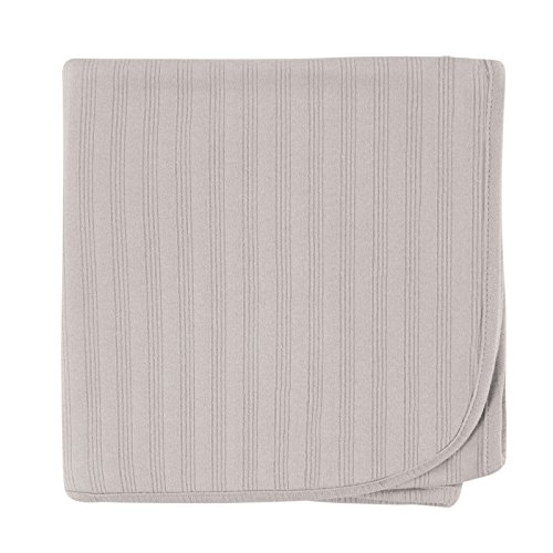 Touched by Nature Unisex Baby Organic Cotton Swaddle, Receiving and Multi-purpose Blanket, Gray, One Size