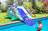 JungleRiverRide Multi-Sprinkler Inflatable Pool Slides for Inground...