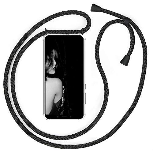 XCYYOO Handykette Handyhülle mit Band für Xiaomi Mi A2 Cover - Handy-Kette Handy Hülle mit Kordel zum Umhängen Handyanhänger Halsband Lanyard Hülle/Handy Band Halsband Necklace