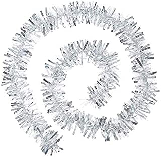6.6 feet Christmas Tinsel Garland, Thick and Full Tinsel Sparkly Classic Party Ornaments Hanging Xmas Christmas tree Ceili...