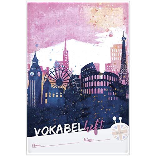 Trötsch Vokabelheft mit Umschlag und Sticker in pink: Lernhilfe Fremdsprache, DIN A5, 68 Seiten, liniert (Schule: Lernhilfe)