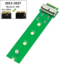 QNINE PCIe SSD to M.2 Key M Adapter Card for 2013 2014 2015 2016 2017 MacBook Air Pro Retina, Hard Drive Converter to Ngff M2, Support Model A1465 A1466 A1398 A1502