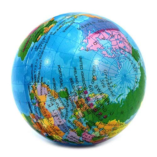 meixiang Globo Mundial Inflable, Bola De Playa De Juguete Familiar, Baile De Mapas Geográficos De Aprendizaje Azul