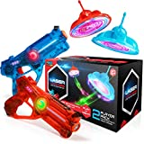 INFRARED LASER TAG AND HOVERING TARGETS GAME: Fire up your laser tag blasters and aim at the glowing flying toy targets; every direct hit keeps these indoor LED light up target drones hovering longer COMPLETE LASER TAG GUN SET: These laser tag games ...