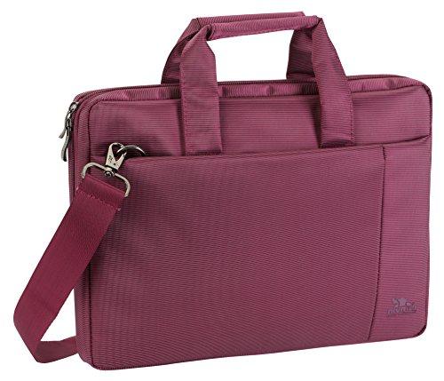 """RIVACASE Notebooktasche bis 13.3"""" – Moderne Tasche mit Zusatzfächern & extra verstärkten Seitenwänden – Lila"""