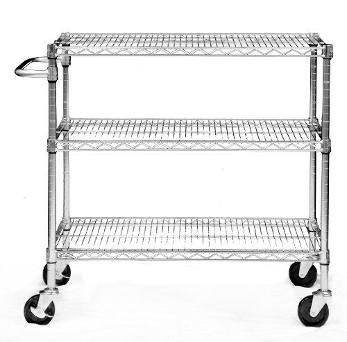 TRINITY EcoStorage 3-Tier NSF Chrome Cart