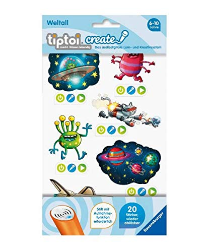 Ravensburger 00910 tiptoi Create Sticker Weltall