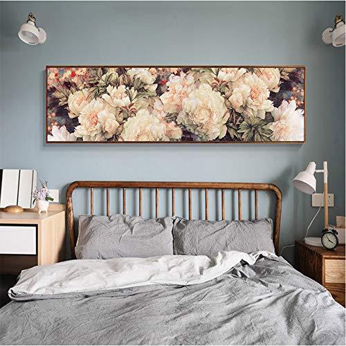 Poster Rose Blumen Bild Wandkunst druckt Leinwand Malerei für Wohnzimmer moderne Wohnkultur ungerahmt