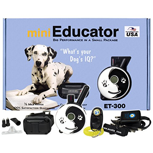 E-Collar - ET-300ZEN - 1/2 Mile Remote Waterproof Trainer Mini Educator - Static, Vibration and Sound Stimulation Collar with PetsTEK Dog Training Clicker