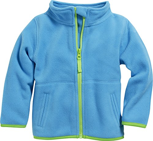 Schnizler Unisex Baby Jacke Fleecejacke, Babyjacke mit Kontrastnähten, Türkis (aquablau 23), 62