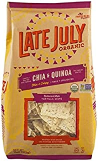 Late July Organic Restaurant Style Tortilla Chips Chia & Quinoa 11 oz (2 Pack)
