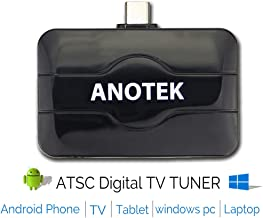 Digital USB TV Tuner Receiver External TV Stick, 6 in1 for Android Phone Tablet Smart TV TV Box Car and PC Laptop (Win 7/8/10) ATSC 4K&HD for USA/Mexico/Canada