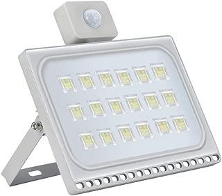 LED Motion Sensor Flood Lights, 100W 10000LM, Daylight White(6000-6600K), IP65,Ultra-Thin Outdoor Landscape Spotlights, Bright PIR Security Lights, for Garden, Yard, Warehouse
