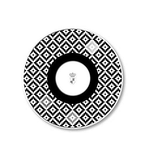 Goebel Château Schwarz-Weiß Diamonds Künstlerteelicht, Teelicht, Teelichthalter, Dekoration, Maja Prinzessin Von Hohenzollern, Porzellan, 27050281