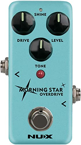 new arrival NUX Morning lowest Star online Guitar Overdrive Effect Pedal Blues-break Overdrive with an extra Treble touch option,True Bypass or Buffer Bypass online