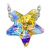 QIANSE necklaces for women star swarovski necklace best friend mom grandma gifts jewlery last minute christmas gifts...