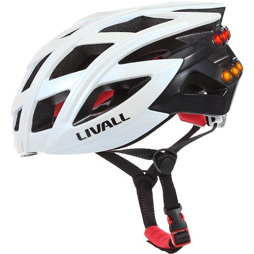 LIVALL BH60WH Casco de Bicicleta, Unisex Adulto, Blanco, M/L