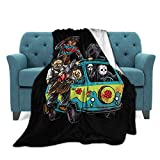 Horror Movie Character Ultra-Soft Micro Fleece Throw Blankets Soft All-Season Warm Fuzzy Lightweight Blanket for Bed 50'X40'
