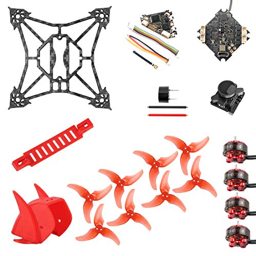 QWinOut DIY RC Accessories Kit for T100 Indoor FPV Racing Drone Crazybee F4 PRO V3.0 FC 1103 Motors 2.5 Inch 100mm Frame Kit (Flysky,DIY Version)