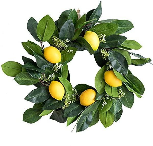 Tyoungg 16 Artificial Lemon Wreath