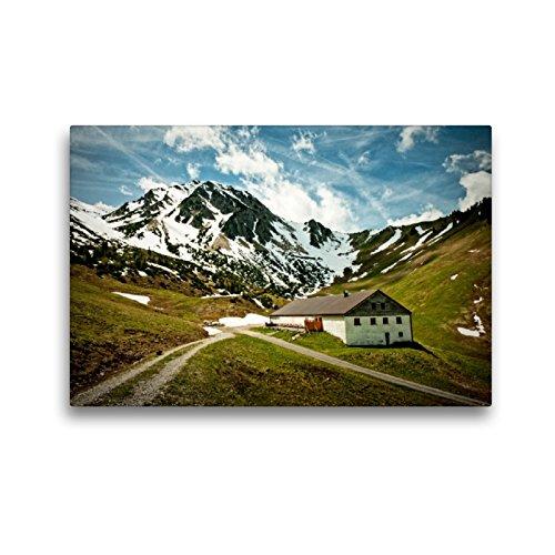 CALVENDO Premium Textil-Leinwand 45 x 30 cm Quer-Format Stuiben-Sennalpe (Zöblen), Leinwanddruck von Georg Hanf