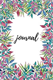 White & Floral Journal: Beautiful Floral Notebook. 140 College Ruled Pages. Diary, Planner, Organizer, Sketch Book, Callig...
