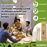 Zoom IMG-2 exxens set posate monouso biodegradabili