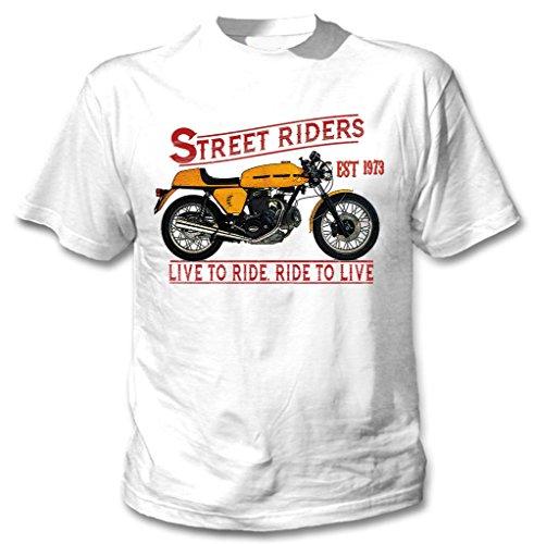 TEESANDENGINES Ducati 750 Sport 1973 Camiseta Blanca para Hombre de Algodon Size Xxxlarge