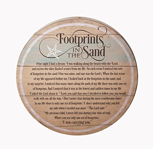 Footprints in the Sand Barrel Lid Plaque