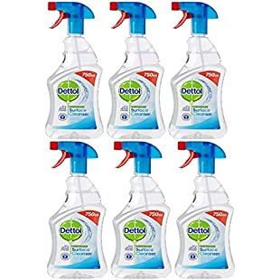 Dettol Anti-Bacterial Surface Cleanser, 750 ml - Original, Packs of 6,12,18 (6)