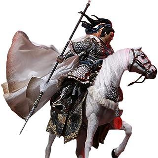 「AC」IN FLAMES 1/12 三国 猛将 子龍 趙雲 アクション フィギュア 素体 ヘッド 衣装 武器 アクセサリー フルセット B人形&馬セット