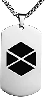 Destiny 2 Game Couple Stainless Steel Dog Tag Necklace Personalized Pendant with Chain for Men Women Gift