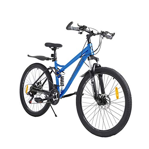 hosote 26 Inch Mountain Bike, Full Suspension 21 Speed...