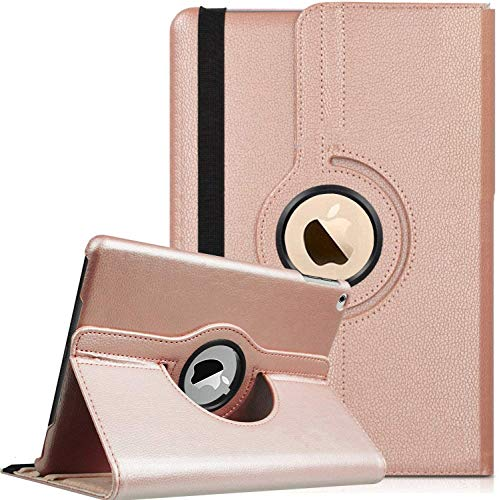 SS Tech Case For iPad 10.2 Inch{2020},iPad 8 Case,iPad 10.2 2020 case Smart 360° Rotating Premium PU Leather Cover with Retina display and Auto Sleep/Wake function Case With Stylus (ROSE GOLD)