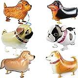Walking Tier Ballons Haustier Hund Ballons - 6 Stück Hund Ballon Air Walkers, Kinder Geschenk...