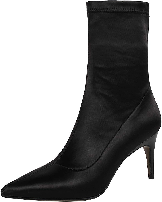 Eithy Women's Shadju Stiletto Ankle-high Zipper Leather Boots