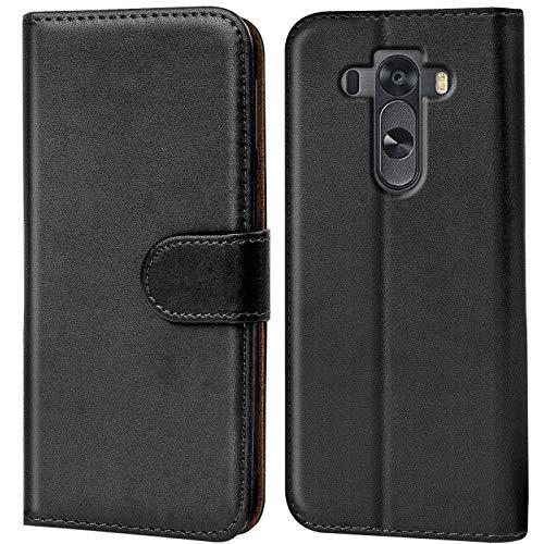 Verco G4 Hülle, Handyhülle für LG G4 Tasche PU Leder Flip Case Brieftasche - Schwarz