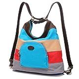 Bolsa de lona de las mujeres / bolsos de hombro / Mochila (Azul)