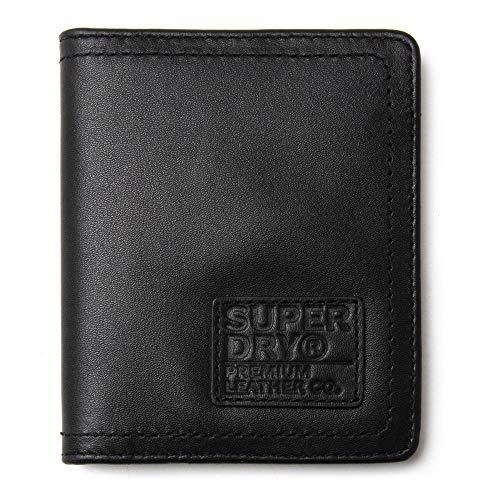 Superdry 02A Geldbörse mit Schlüsselanhänger, Leder, Schwarz Gr. Einheitsgröße, Schwarz