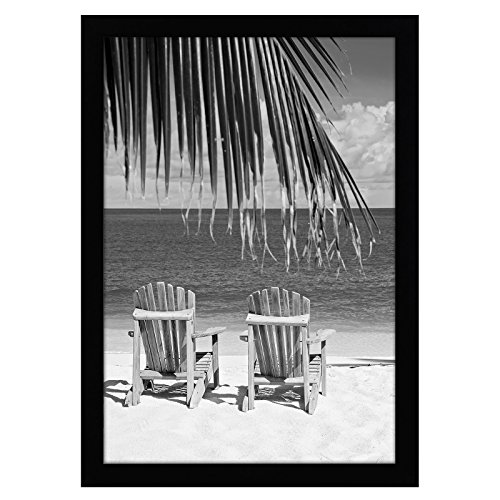 Americanflat 13x19 Black Poster Frame | Shatter-Resistant Glass. Hanging Hardware Included!