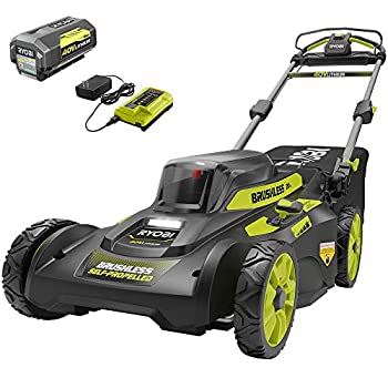RYOBI 20 in 40-Volt 6.0 Ah Lithium-Ion Battery Brushless Cordless Walk Behind Self-Propelled Lawn Mower with Charger Included