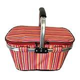 Car insulation package outdoor waterproof picnic basket supermarket shopping basket portable folding (Color : C)