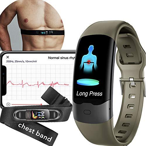 AUPALLA Pulsera Actividad, Reloj Inteligente con Pulsómetro, SpO2, HRV, ECG, Monitor Ritmo Cardíaco y Sueño, Podómetro...