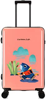 Lightweight ABS +PC Hard Shell Travel 360°Spinner Wheels Suitcase Cabin Hand Luggage for Unisex Child Student Adult,Pink,18inches