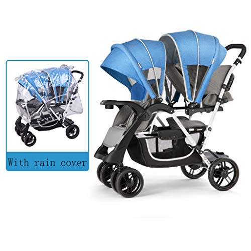 Buy ZWW Strollers Twin Baby Strollers can sit Reclining Double Child Stroller Light fold Two Baby Pr...