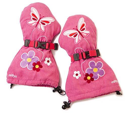 Veyo Kids - Flutter Mittyz - Waterproof Kids Mittens   Toddler Gloves (Small 6 Months - 2 Years)